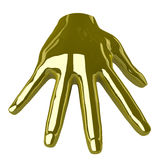 Golden Hand Royalty Free Stock Photo