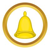 Golden Hand Bell Vector Icon Stock Images