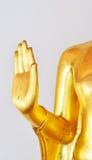Golden Hand of God (Golden Buddha). In summer dress at Wat Phra Chetuphon Vimolmangklararm Rajwara Maha Viharn Bangkok,Thailand stock photos