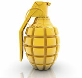 Golden Hand grenade Stock Image