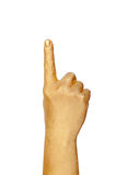 Golden Hand Show A Gesture Stock Photo