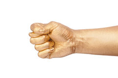 Golden hand show a sign fico Royalty Free Stock Photo