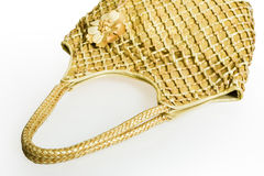 Golden handbag Royalty Free Stock Image