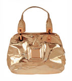 Golden handbag Stock Images