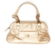 Golden handbags Royalty Free Stock Images