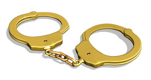 Golden Handcuffs Royalty Free Stock Images