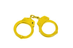 Golden Handcuffs Royalty Free Stock Photos