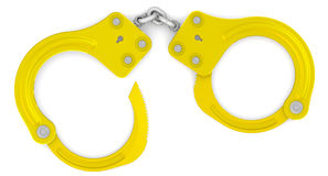 Golden handcuffs Royalty Free Stock Photo