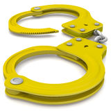 Golden handcuffs Stock Photo