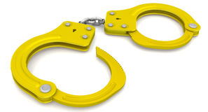 Golden handcuffs Stock Photography