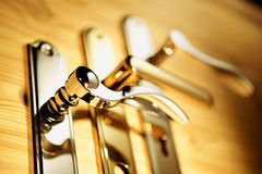 Golden handles Royalty Free Stock Images