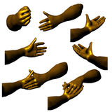 Golden hands 03 Stock Photo