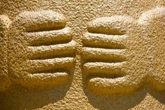 Golden Hands Stock Image