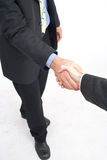 Golden handshake Royalty Free Stock Images