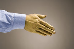 Golden Handshake Royalty Free Stock Photos