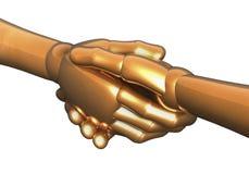Golden handshake Royalty Free Stock Photos