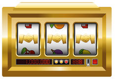 Golden Handshake Slot Machine Royalty Free Stock Images