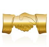Golden Handshake Royalty Free Stock Photo