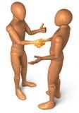 Golden handshake Stock Images