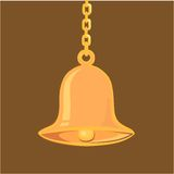 Golden hanging bell Royalty Free Stock Photography