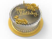 Golden happy birthday Stock Image