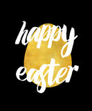 Golden happy easter black Royalty Free Stock Images
