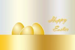 Golden Happy Easter card vector Stock Photos