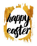 Golden happy easter Stock Images