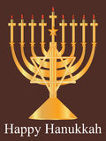 Golden Happy Hanukkah_eps Royalty Free Stock Photos