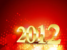 Golden happy new year Royalty Free Stock Photography