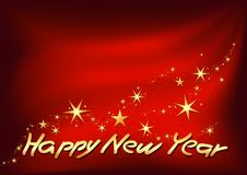 Golden Happy New Year Royalty Free Stock Photos