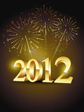 Golden happy new year background. Vector new year stylish golden color design Stock Photography