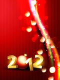 Golden happy new year background Royalty Free Stock Images