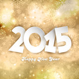 Golden Happy New Year background Stock Image