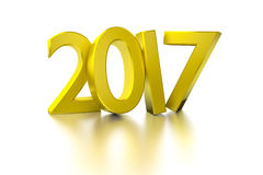 Golden happy new year 2017 Stock Photography