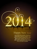 Golden happy new year design. Beautiful golden happy new year design illustration Royalty Free Stock Image