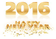 Golden Happy New Year Stock Images