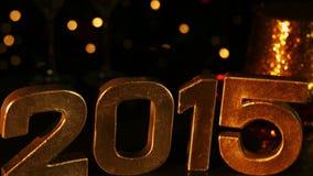 Golden Happy new Year 2015 stock video