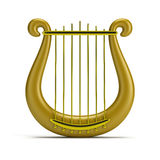 Golden harp Royalty Free Stock Photos