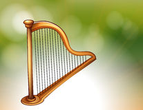 A golden harp Stock Image