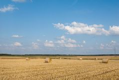 Golden Hay Bales Royalty Free Stock Image