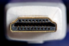 Golden hdmi cable Royalty Free Stock Photos