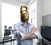 Golden head Stock Photos