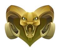 Golden head dragon Stock Image