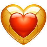 Golden heart Stock Photo