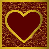 Golden heart royalty free stock photo