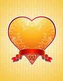 Golden  heart,  Royalty Free Stock Photo