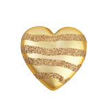 Golden heart. On a white background Royalty Free Stock Photography