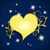 Golden heart Stock Image
