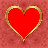 Golden heart Royalty Free Stock Images